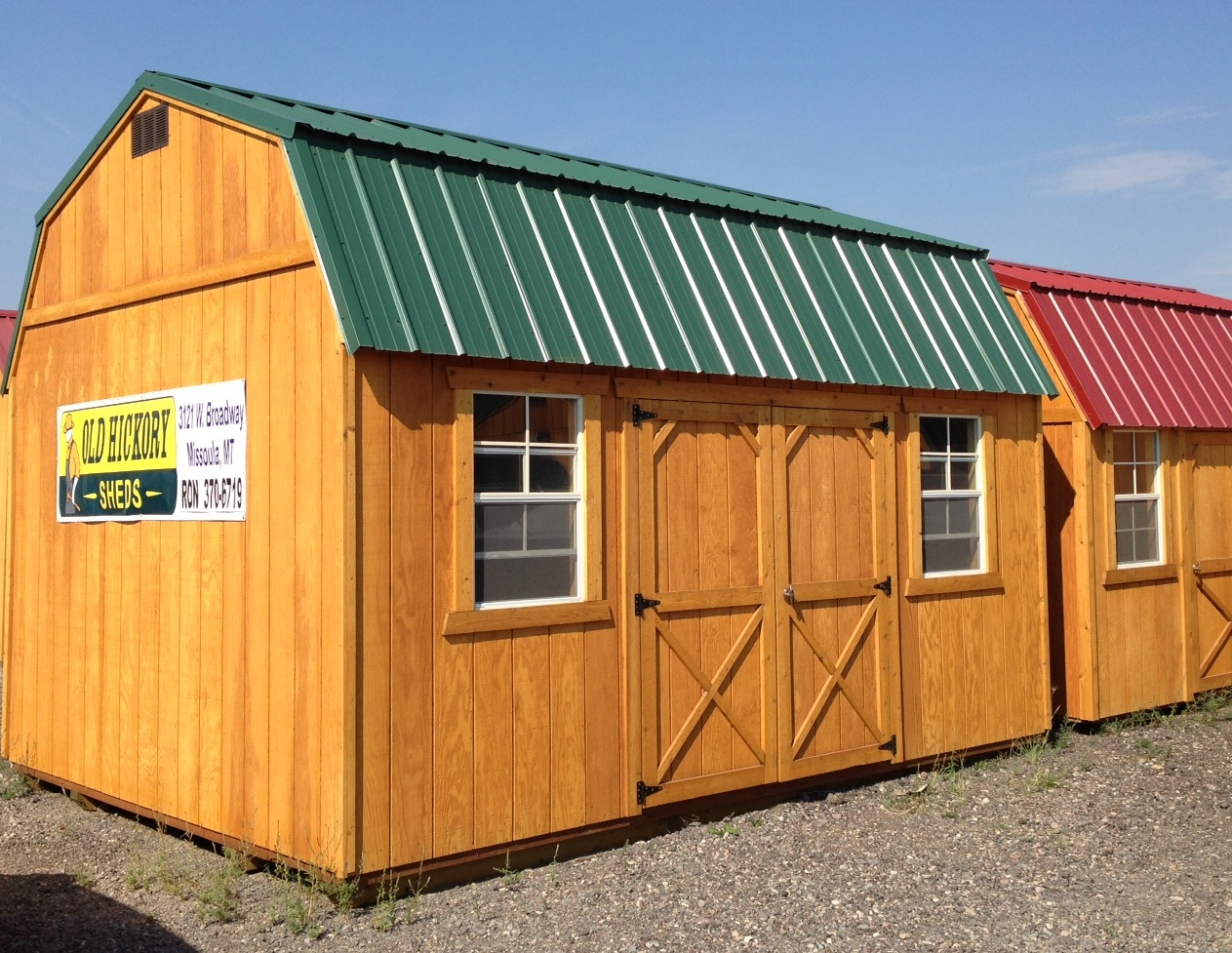 Brian giffin old hickory buildings sheds missoula mt for Sheds and buildings