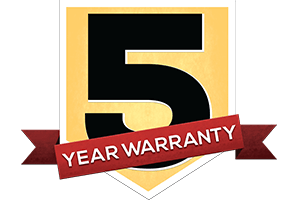 Five Year Warranty on Shed